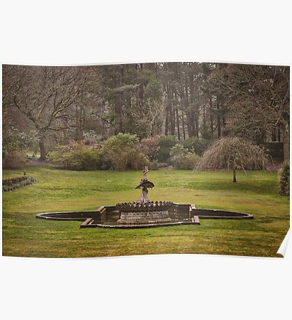Early Spring at a Formal Castle Garden in Scotland Poster