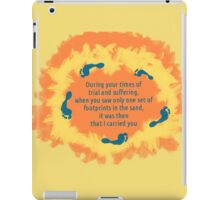 Footprints in the sand iPad Case/Skin