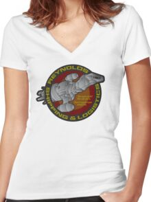 Firefly: Reynolds Shipping & Logistics Women's Fitted V-Neck T-Shirt