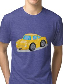 Yellow Sports Car Cartoon Tri-blend T-Shirt