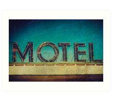 Vintage Motel Sign Art Print