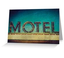 Vintage Motel Sign Greeting Card