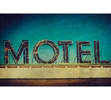 Vintage Motel Sign Photographic Print