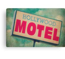 Hollywood Motel Sign Canvas Print