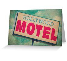 Hollywood Motel Sign Greeting Card