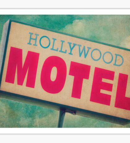 Hollywood Motel Sign Sticker