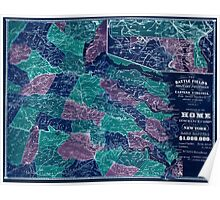 Civil War Maps 1730 The battle fields and military positions in eastern Virginia from surveys supplied by officers of the army Inverted Poster