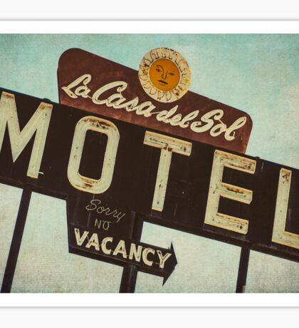 La Casa Del Sol Motel Sign Sticker