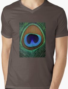 Beautiful peacock feather Mens V-Neck T-Shirt