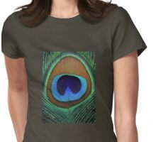 Beautiful peacock feather Womens Fitted T-Shirt