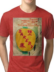 Chinese Bakery Neon Sign Tri-blend T-Shirt