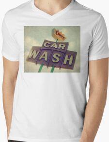 Crown Car Wash Neon  Mens V-Neck T-Shirt