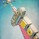 Holiday Lodge Googie Sign by Honey Malek