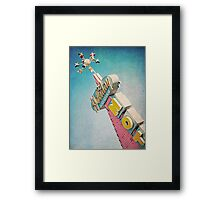 Holiday Lodge Googie Sign Framed Print