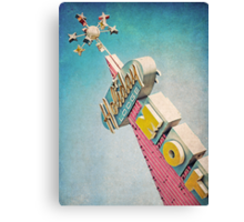 Holiday Lodge Googie Sign Canvas Print