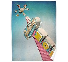 Holiday Lodge Googie Sign Poster