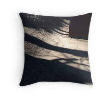 Shadows in the woods Throw Pillow