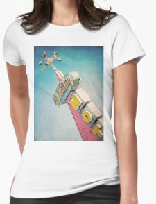 Holiday Lodge Googie Sign Womens Fitted T-Shirt