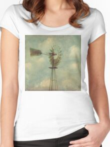 Vintage Windmill Women's Fitted Scoop T-Shirt
