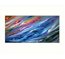 Abstract Artwork - game of the wind Art Print