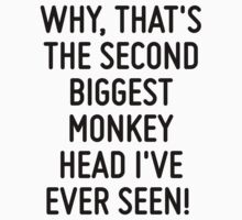 Why, that's the second biggest monkey head I've ever seen!   by ordinateur