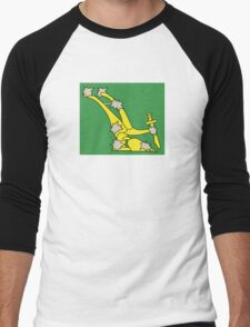Starry Plough Flag  Men's Baseball ¾ T-Shirt
