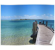Pier for the ferry to Penguin Island in Perth Poster