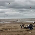 Kite Surfers by Hywel Edwards