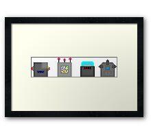 PopCubes: Robots Framed Print