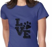 Love dog Womens Fitted T-Shirt