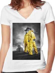 Real Breaking Bad Merchandise Women's Fitted V-Neck T-Shirt