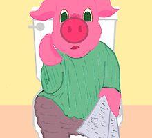 Don't Hog the Bathroom by PharrisArt