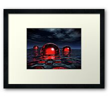 The Red And The Black Framed Print