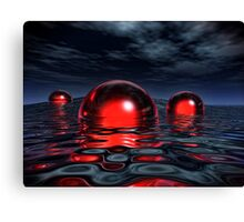 The Red And The Black Canvas Print