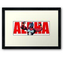 Alpha Prime (Red Text) Framed Print