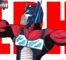 Alpha Prime (Red Text) Sticker