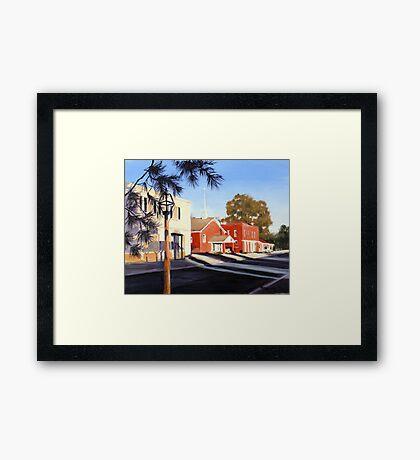 Main Street Scene Ste Genevieve Framed Print