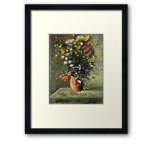 Flowers in a Vase - After Renoir Framed Print