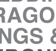 Game of Thrones (Helvetica) Sticker