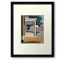 Morning Porch Light Framed Print