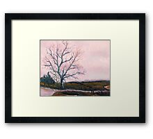 Tree on KK Highway Framed Print