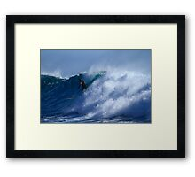 Long Boarder At Snapper Rocks Framed Print