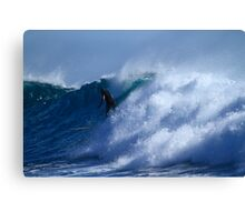 Long Boarder At Snapper Rocks Canvas Print