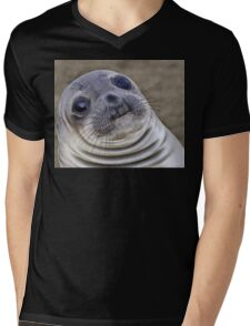 Fat seal sticker Mens V-Neck T-Shirt