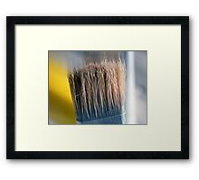 ©HS Paint Brush In Yellow IIA Framed Print