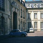 Courtyard of Palace of Dukes Dijon France 198404300007m  by Fred Mitchell
