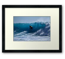 In The Blue At Snapper Rocks Framed Print
