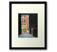 View from Lulu's Summer Porch - The Door Framed Print