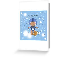 I Love Football Greeting Card