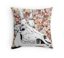 Pretty Horns Throw Pillow